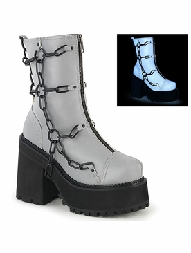 Demonia Assault-66 Cleated Platform Ankle Boot