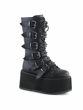 Demonia Damned-225 Studded Buckle Strap Boot