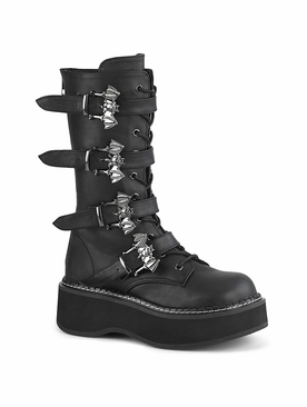 Demonia Emily-322 Lace-Up Front Mid-Calf Boot