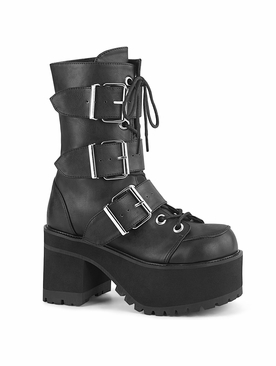 Demonia Ranger-308 Lace-Up Front Ankle Boot
