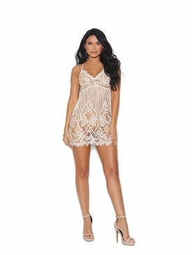 Elegant Moments 11005 Eyelash Lace Chemise