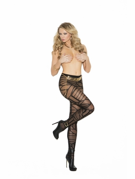 Elegant Moments 1139 Sheer Pantyhose With Geometric Pattern
