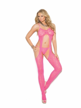 Elegant Moments 1308 Lace Suspender Bodystocking W/G-String