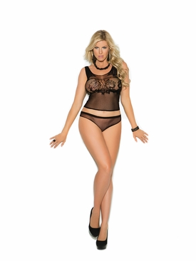 Elegant Moments 1363Q Crochet Cami Top And Panty