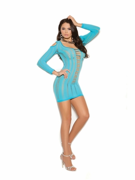 Elegant Moments 1365 Long Sleeve Mini Dress W/Cutout Details