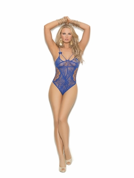 Elegant Moments 1368 Lace Teddy With Cut Out Detailing