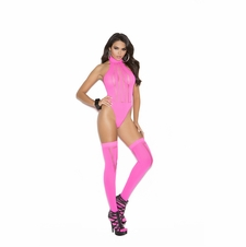 Elegant Moments 1585 Sheer Opaque Teddy With Stockings