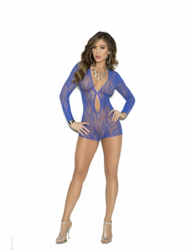Elegant Moments 1593 Long Sleeve Lace Romper