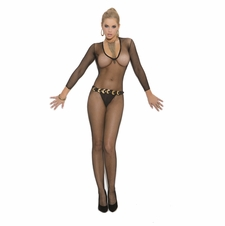 Elegant Moments 1613 Deep V Fishnet Bodystocking