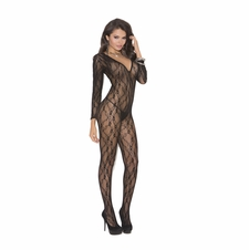Elegant Moments 1619 Deep V Neck Bodystocking