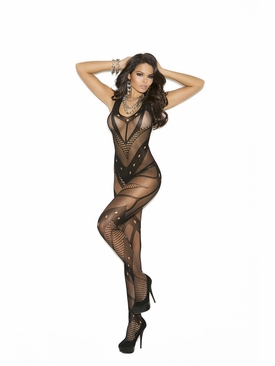 Elegant Moments 1650 Crochet Bodystocking