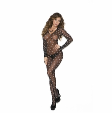 Elegant Moments 1654 Polka Dotted Bodystocking