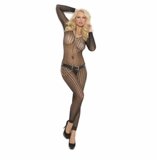 Elegant Moments 1667 Crochet Footless Bodystocking