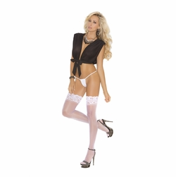 Elegant Moments 1753 Sheer Thigh Hi with Lace Top