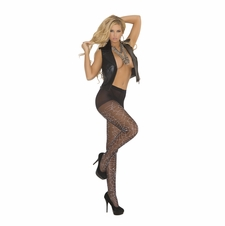 Elegant Moments 1761 Sheer Pantyhose with Glow in the Dark Spider Web