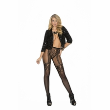 Elegant Moments 1827 Fishnet And Lace Crochet Pantyhose