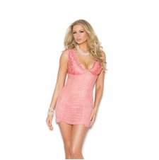 Elegant Moments 4309 Mesh And Lace Babydoll
