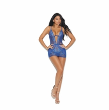 Elegant Moments 44022 Mesh And Lace Babydoll