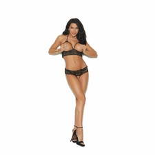 Elegant Moments 55022 Cupless Bra Top & G-String