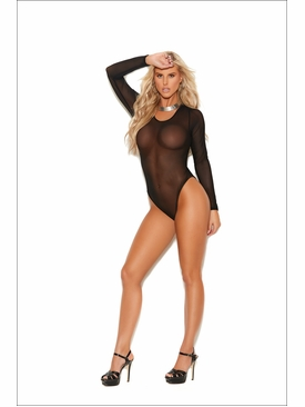 Elegant Moments 77081 Long Sleeve Mesh Teddy
