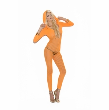 Elegant Moments 8011 Hooded Crochet Bodystocking