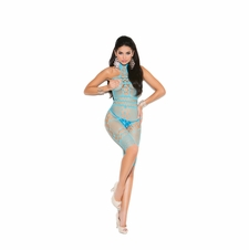 Elegant Moments 8015 Crochet & Fishnet Bodystocking