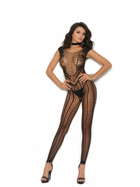 Elegant Moments 81339 Crochet Footless Bodystocking