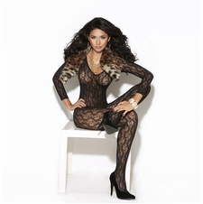 Elegant Moments 8503 Long Sleeve Lace Bodystocking