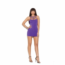 Elegant Moments 88061 Lycra Mini Dress W/Criss Cross Back
