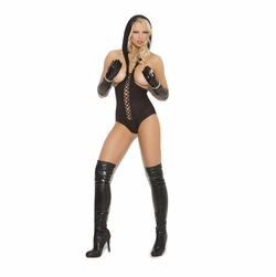 Elegant Moments 8869 Opaque Cupless Teddy with Hood