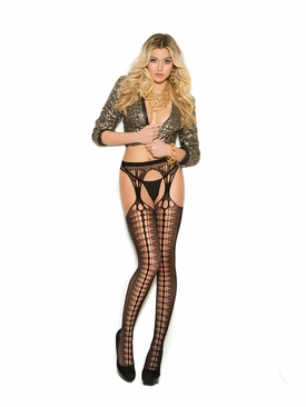 Elegant Moments Crochet Suspender Pantyhose