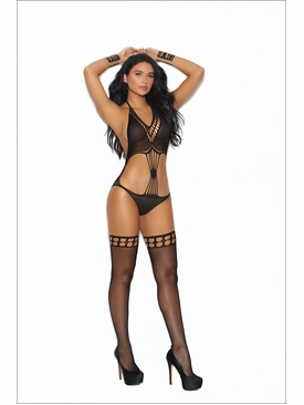 Elegant Moments Crochet Teddy With Matching Stockings
