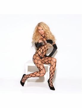 Elegant Moments Diamond Net Bodystocking