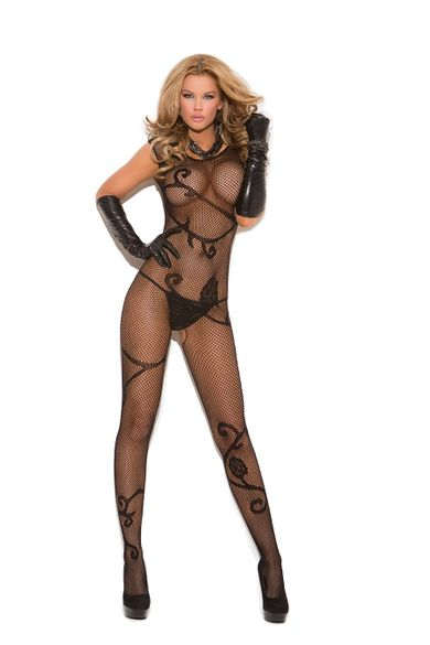 Elegant Moments Fishnet Bodystocking