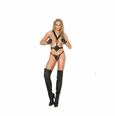 Elegant Moments L9785 Leather Harness With Studs