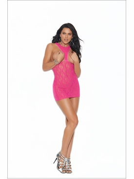 Elegant Moments Lace Cupless Mini Dress