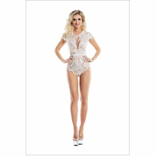 Fern Lace Teddy With Front Keyhole Design