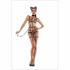 Fetish Fantasy Bodysuit With Cat Ears