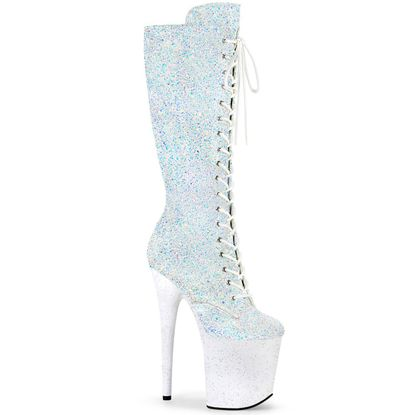 Pleaser Flamingo-2020MG Lace-Up Front Knee High Boot