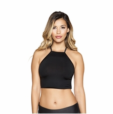 Halter Neck Crop Top with Strappy Back