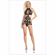 Harley Mesh Teddy With Strappy Details