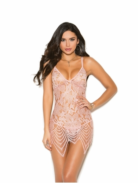 Lace Babydoll Set With Adjustable Straps