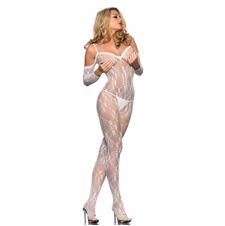 Lace Bodystocking With Bare Shoulders