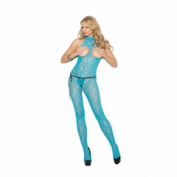 Lace Bodystocking W/Open Bust And Crotch
