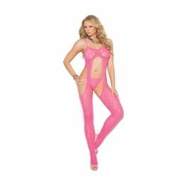 Lace Suspender Bodystocking W/G-String