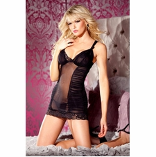 Lacy Hem Chemise With Thong