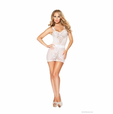Lacy Sheer Chemise With Matching G-String