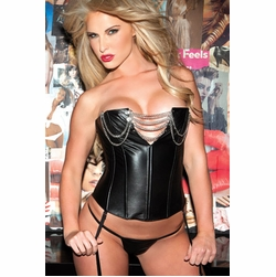 Leather and Vinyl Bustier Corsets