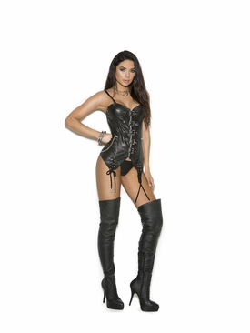 Leather Bustier With Underwire Cups