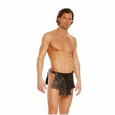 Leather Kilt With Nail Heads